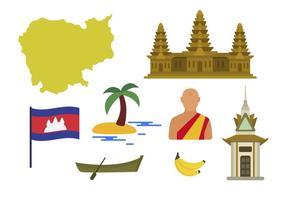vettori piatti in cambogia