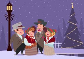 Carolers Group Vector