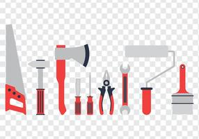 Set di icone degli strumenti vettore