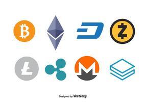 Insieme di vettore di marchio di valuta di Cripto