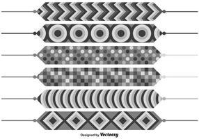 Set di braccialetti decorati modificabili di vettore