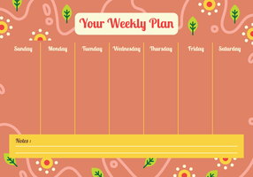 Il tuo calendario settimanale vettore