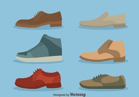 Vettore della raccolta delle scarpe del bello uomo