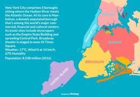 Illustrazione della mappa di New York vettore