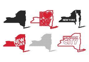 New York mappa vettoriale