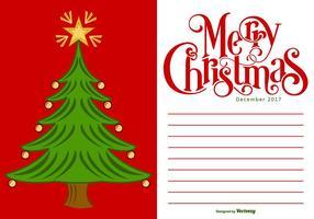Illustrazione 2017 della carta di Buon Natale