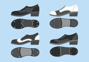 Tocca le scarpe Vector Set