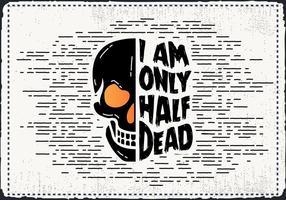 Scary Halloween Skull Vector gratuito