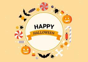 Collezione di elementi vettoriali gratis piatto Halloween