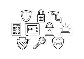 Vettore di icona linea di sicurezza gratuita