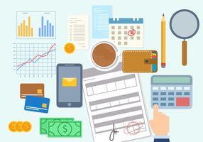 Vettore di concetto di pagamento del libro paga