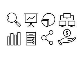 pacchetto di icone di affari vettore
