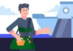 Cruise Passenger presso il vettore del porto