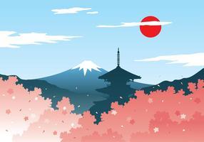 vettore libero del Giappone del fiore della prugna