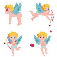 Cupido in diverse pose impostato