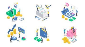 contabilità e audit isometrico vettore