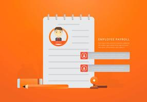 Business Payroll con testo modificabile