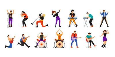 musicisti rock insieme vettore