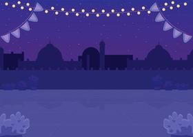 piazza indiana notturna vettore