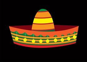 cappello sombrero, vettore cappello messicano