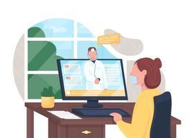 consultazione medica online vettore