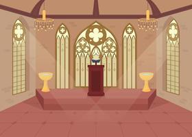 chiesa impostazione piatta vettore
