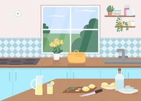 Limonata sul bancone della cucina vettore