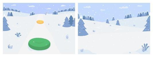 set di attività invernali vettore