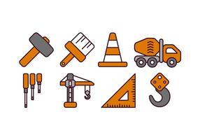 Icone di costruzione vettore