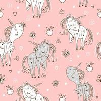 seamless con simpatici unicorni