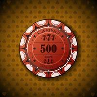 poker chip nominale cinquecento vettore