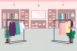 negozio di vestiti per lo shopping vettore