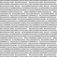 modello senza cuciture di codice binario computer vettore
