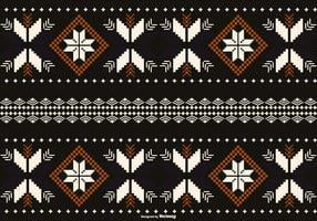 Borneo / Dayak Style Pattern Background
