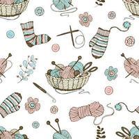 seamless sul tema del lavoro a maglia
