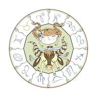 segno zodiacale toro. oroscopo dei bambini vettore