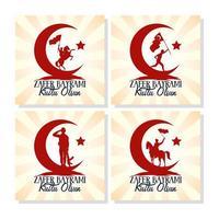 set di carte celebrazione zafer bayrami