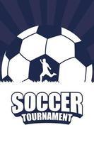poster del torneo di calcio calcio sportivo