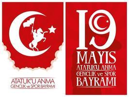 set di carte celebrazione ataturk, gioventù e sport