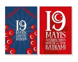 set di poster di celebrazione di zafer bayrami