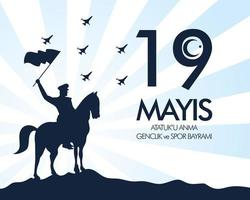 ataturk, carta di celebrazione della giornata della gioventù e dello sport