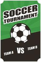 poster del torneo di calcio calcio sportivo vettore