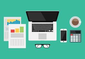 Illustrazione degli strumenti di gestione aziendale vettore
