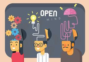 Illustrazione di vettore dell'illustrazione di concetto di mente aperta