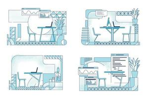 design di interni per uffici moderni vettore