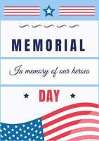 poster del memorial day