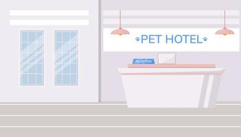 sfondo di hotel per animali domestici vettore
