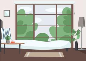 scena della camera da letto vuota vettore