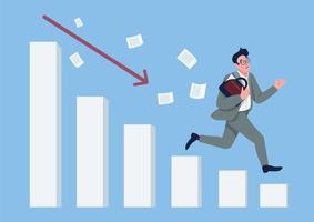 crisi economica verso il basso caduta