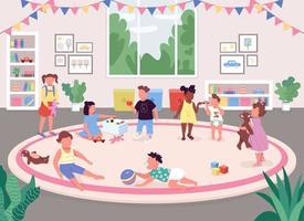 impostazione della stanza della scuola materna